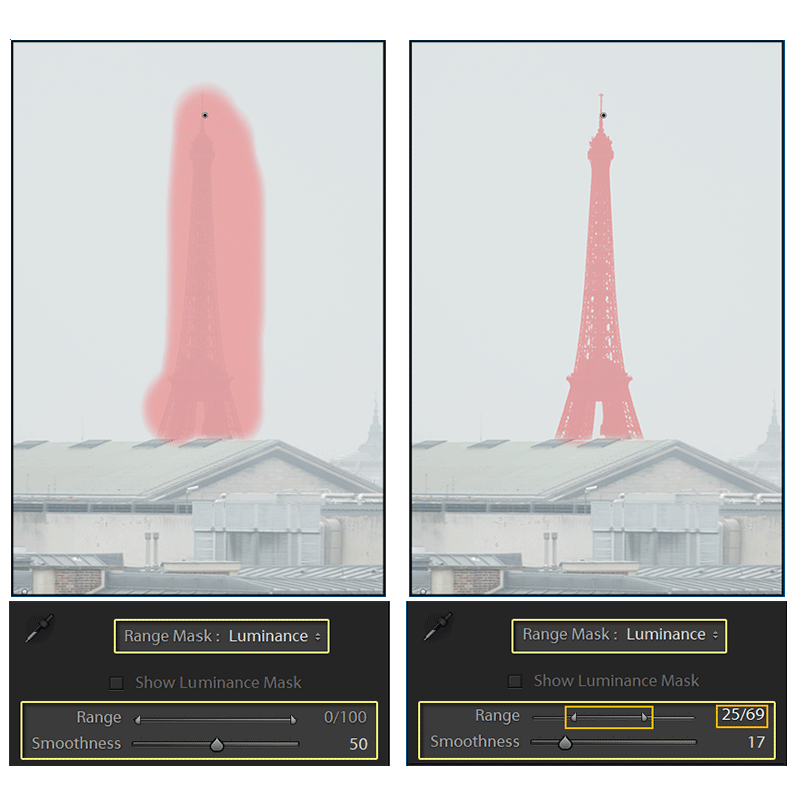mask of Eiffel Tower